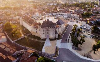 Barbezieux-Saint-Hilaire photo vu du ciel